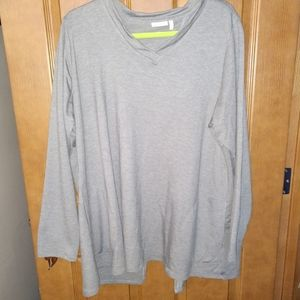 LOGO lounge 2x split back tunic grey